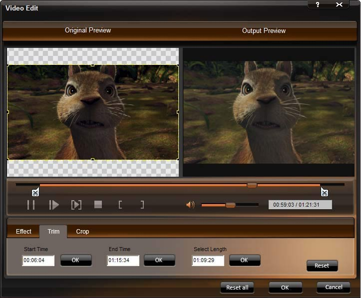 DVD to Creative Zen Converter - Transfer DVD to Creative Zen